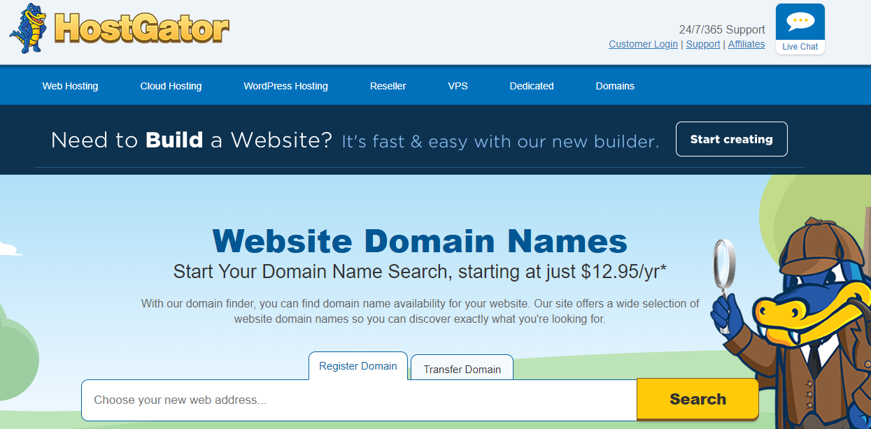 Hostgator Domain Name