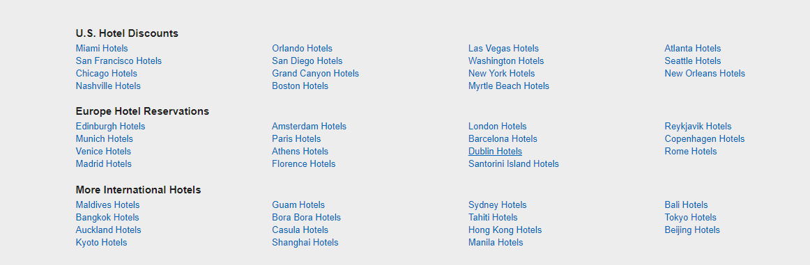 Expedia hotel booking
