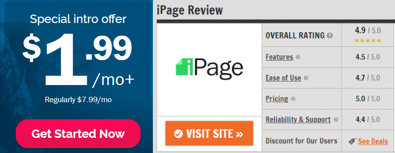 ipage review by sweetlyreview.com