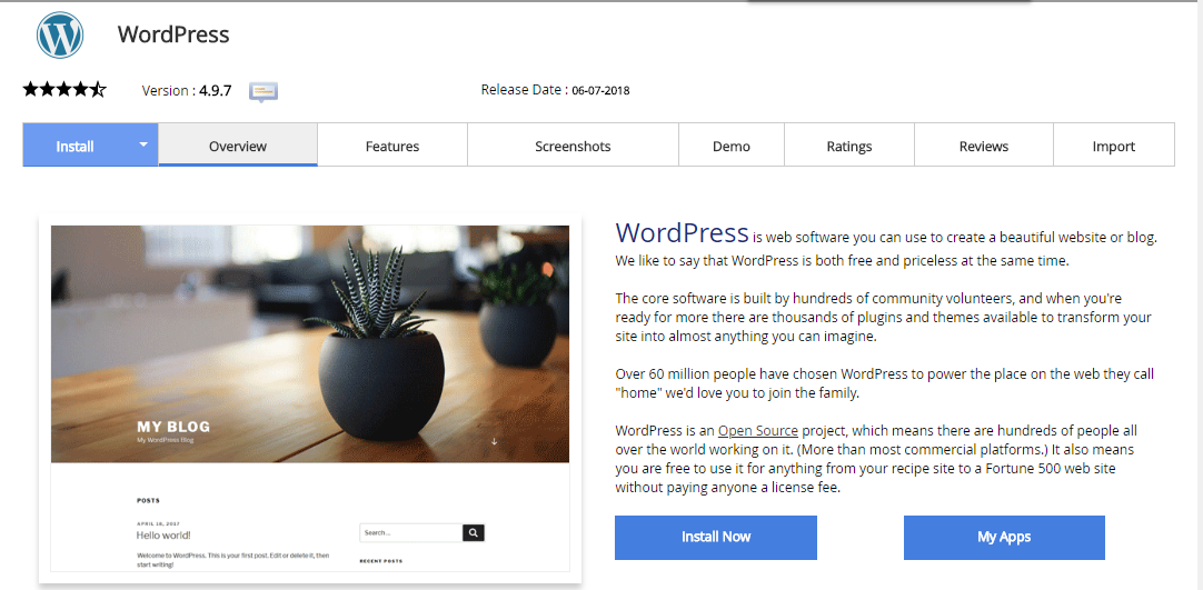 Make a website using WordPress