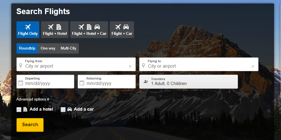 Expedia flight booking